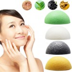 Natural Konjac Konnyaku Jelly Fiber Face Wash Cleanse Sponge Puff Exfoliator BS