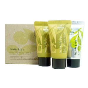 Innisfree Увлажняющий мини набор для тела - Innisfree Olive Real Body Kit (3 Items)