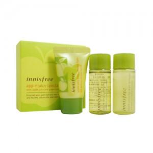 Innisfree Набор миниатюр для очищения кожи с яблочным соком - Innisfree Apple juicy special cleansing kit 3 items