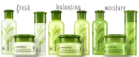 Innisfree Green Tea line