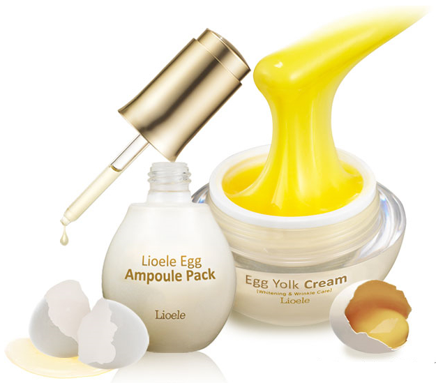 [Lioele] Egg Ampoule Pack 60g + Egg Yolk Cream 50g Set_2